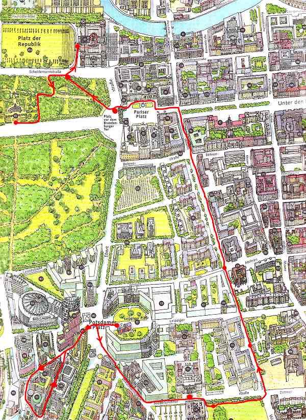 Hotels berlin potsdamer platz karte for Designhotel potsdam